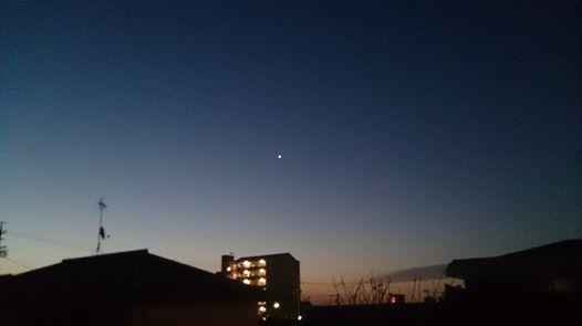 南東の空に輝く星